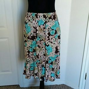 Claudia Richard floral skirt